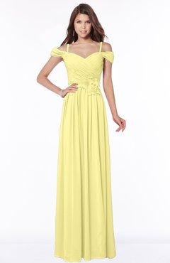 ColsBM Kate Daffodil Luxury V-neck Short Sleeve Zip up Chiffon Bridesmaid Dresses