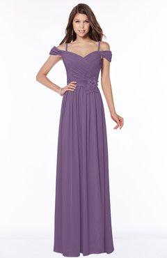 ColsBM Kate Eggplant Luxury V-neck Short Sleeve Zip up Chiffon Bridesmaid Dresses
