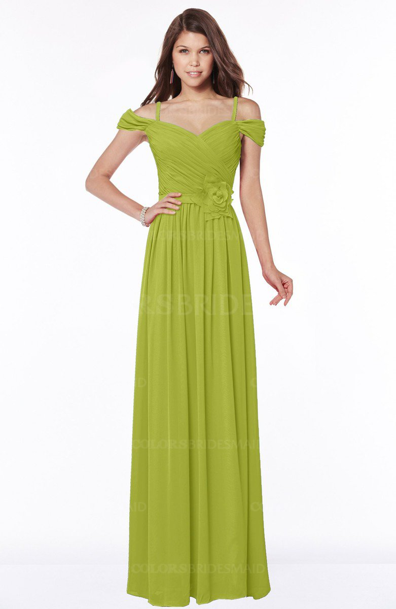 437dbbe593dcd ColsBM Kate Green Oasis Luxury V-neck Short Sleeve Zip up Chiffon  Bridesmaid Dresses