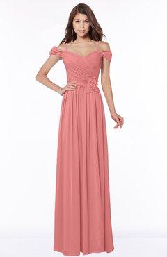 ColsBM Kate Lantana Luxury V-neck Short Sleeve Zip up Chiffon Bridesmaid Dresses