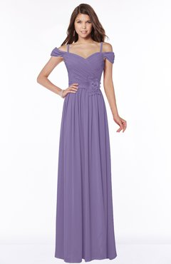 ColsBM Kate Lilac Luxury V-neck Short Sleeve Zip up Chiffon Bridesmaid Dresses