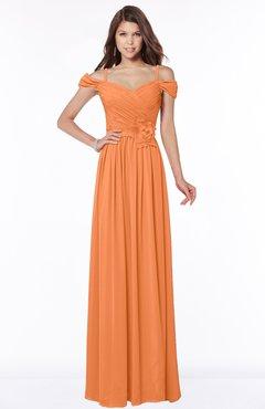 ColsBM Kate Mango Luxury V-neck Short Sleeve Zip up Chiffon Bridesmaid Dresses