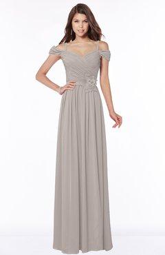 ColsBM Kate Mushroom Luxury V-neck Short Sleeve Zip up Chiffon Bridesmaid Dresses