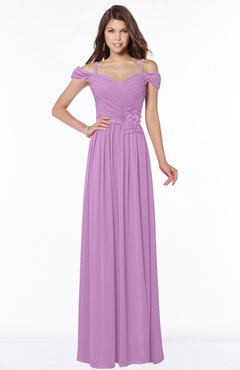 ColsBM Kate Orchid Luxury V-neck Short Sleeve Zip up Chiffon Bridesmaid Dresses