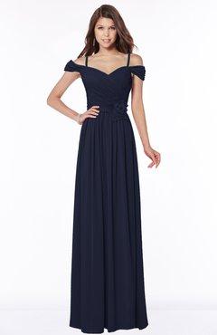 ColsBM Kate Peacoat Luxury V-neck Short Sleeve Zip up Chiffon Bridesmaid Dresses