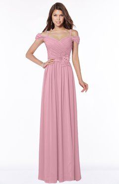 ColsBM Kate Rosebloom Luxury V-neck Short Sleeve Zip up Chiffon Bridesmaid Dresses