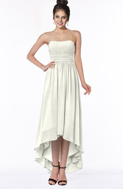 ColsBM Heather Ivory Modern Sleeveless Zip up Chiffon Hi-Lo Bridesmaid Dresses