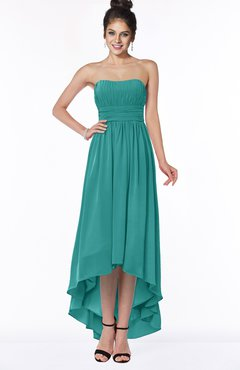 ColsBM Heather Porcelain Modern Sleeveless Zip up Chiffon Hi-Lo Bridesmaid Dresses