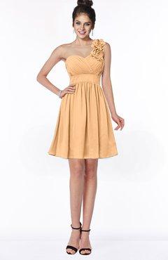ColsBM Clara Apricot Gorgeous One Shoulder Sleeveless Chiffon Flower Bridesmaid Dresses
