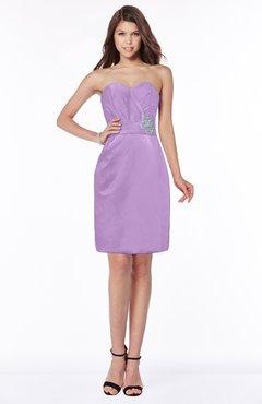 8ebfce5156c ColsBM Kenley Begonia Gorgeous Sheath Sweetheart Zip up Satin Knee Length  Bridesmaid Dresses