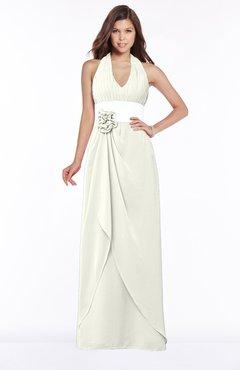 ColsBM Paulina Cream Glamorous A-line Halter Chiffon Flower Bridesmaid Dresses