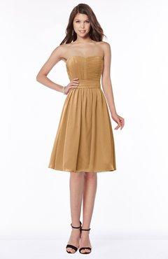ColsBM Lilia Doe Gorgeous A-line Zip up Chiffon Knee Length Pick up Bridesmaid Dresses