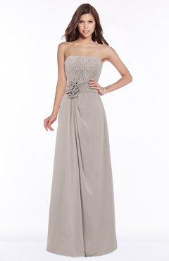ColsBM Ella Mushroom Gorgeous A-line Sleeveless Chiffon Floor Length Flower Bridesmaid Dresses