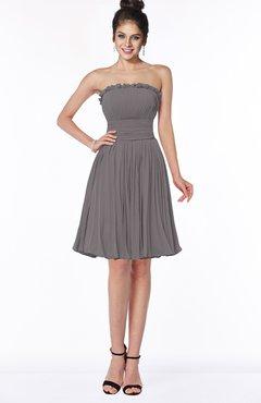 ColsBM Aubree Ridge Grey Princess A-line Sleeveless Knee Length Pleated Bridesmaid Dresses
