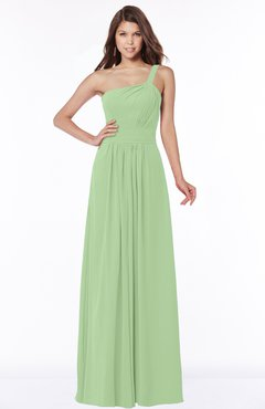 ColsBM Laverne Gleam Modest A-line Half Backless Chiffon Floor Length Ruching Bridesmaid Dresses