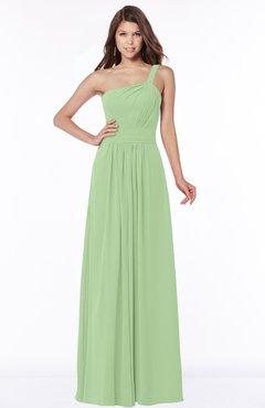 ColsBM Laverne Modest A-line Half Backless Chiffon Floor Length Ruching Bridesmaid Dresses