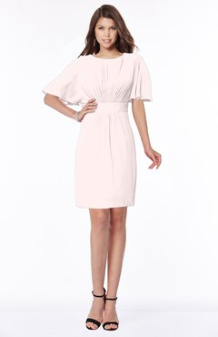 ColsBM Talia Angel Wing Luxury A-line Short Sleeve Zip up Chiffon Pleated Bridesmaid Dresses