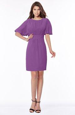 ColsBM Talia Dahlia Luxury A-line Short Sleeve Zip up Chiffon Pleated Bridesmaid Dresses