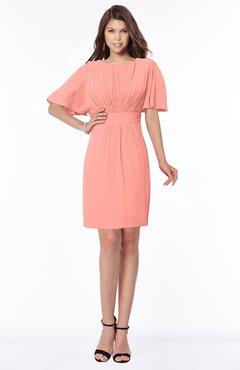 ColsBM Talia Desert Flower Luxury A-line Short Sleeve Zip up Chiffon Pleated Bridesmaid Dresses