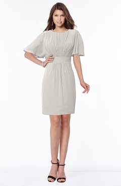ColsBM Talia Hushed Violet Luxury A-line Short Sleeve Zip up Chiffon Pleated Bridesmaid Dresses