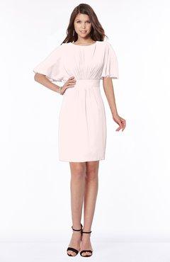 ColsBM Talia Light Pink Luxury A-line Short Sleeve Zip up Chiffon Pleated Bridesmaid Dresses