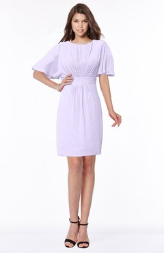 ColsBM Talia Pastel Lilac Luxury A-line Short Sleeve Zip up Chiffon Pleated Bridesmaid Dresses