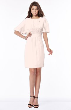 ColsBM Talia Silver Peony Luxury A-line Short Sleeve Zip up Chiffon Pleated Bridesmaid Dresses