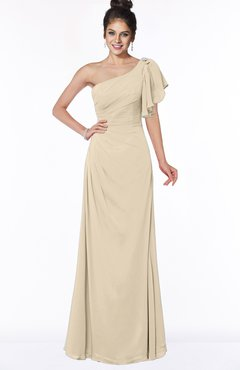 ColsBM Naomi Champagne Glamorous A-line Short Sleeve Half Backless Chiffon Floor Length Bridesmaid Dresses