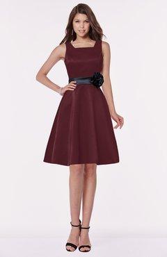 ColsBM Charli Burgundy Elegant A-line Wide Square Zip up Sash Bridesmaid Dresses
