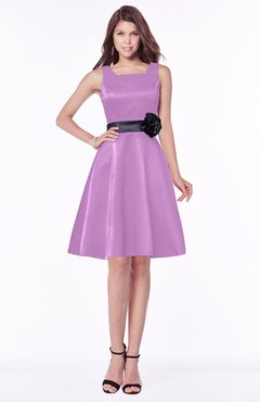 ColsBM Charli Orchid Elegant A-line Wide Square Zip up Sash Bridesmaid Dresses