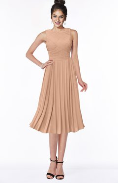 ColsBM Aileen Almost Apricot Gorgeous A-line Sleeveless Chiffon Pick up Bridesmaid Dresses