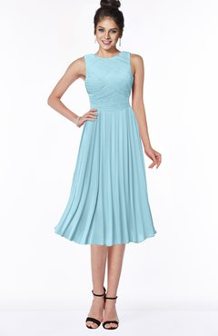 ColsBM Aileen Aqua Gorgeous A-line Sleeveless Chiffon Pick up Bridesmaid Dresses