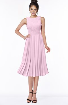 ColsBM Aileen Baby Pink Gorgeous A-line Sleeveless Chiffon Pick up Bridesmaid Dresses