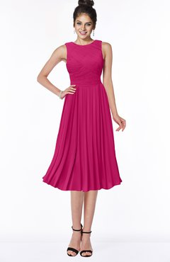 ColsBM Aileen Beetroot Purple Gorgeous A-line Sleeveless Chiffon Pick up Bridesmaid Dresses