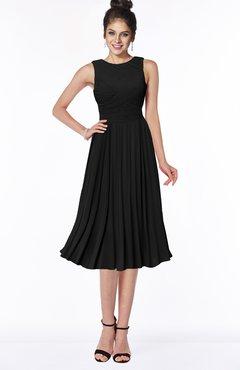 ColsBM Aileen Black Gorgeous A-line Sleeveless Chiffon Pick up Bridesmaid Dresses
