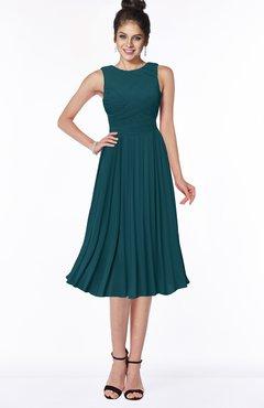 ColsBM Aileen Blue Green Gorgeous A-line Sleeveless Chiffon Pick up Bridesmaid Dresses