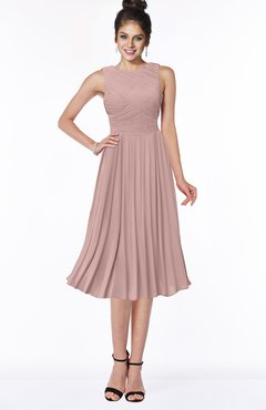 ColsBM Aileen Blush Pink Gorgeous A-line Sleeveless Chiffon Pick up Bridesmaid Dresses