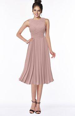 ColsBM Aileen Bridal Rose Gorgeous A-line Sleeveless Chiffon Pick up Bridesmaid Dresses