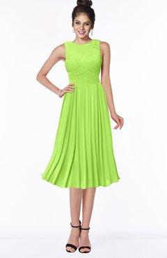 ColsBM Aileen Bright Green Gorgeous A-line Sleeveless Chiffon Pick up Bridesmaid Dresses