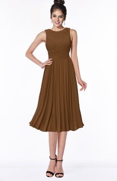 ColsBM Aileen Brown Gorgeous A-line Sleeveless Chiffon Pick up Bridesmaid Dresses
