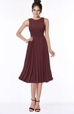 ColsBM Aileen Burgundy Gorgeous A-line Sleeveless Chiffon Pick up Bridesmaid Dresses