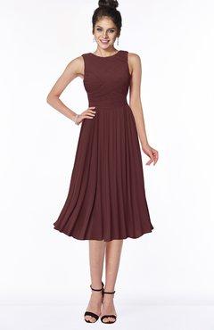ColsBM Aileen Burgundy Gorgeous A-line Sleeveless Chiffon Pick up Bridesmaid Dresses