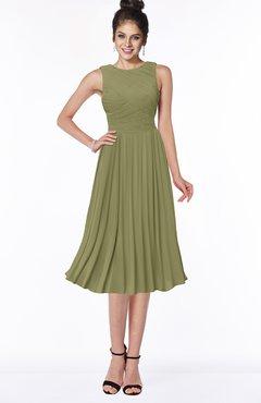 ColsBM Aileen Cedar Gorgeous A-line Sleeveless Chiffon Pick up Bridesmaid Dresses