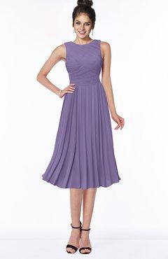 ColsBM Aileen Chalk Violet Gorgeous A-line Sleeveless Chiffon Pick up Bridesmaid Dresses