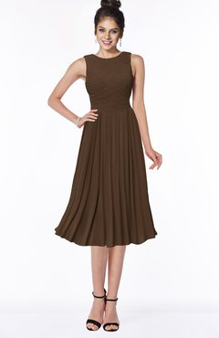 ColsBM Aileen Chocolate Brown Gorgeous A-line Sleeveless Chiffon Pick up Bridesmaid Dresses
