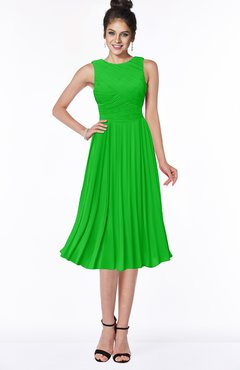 ColsBM Aileen Classic Green Gorgeous A-line Sleeveless Chiffon Pick up Bridesmaid Dresses