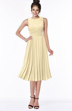 ColsBM Aileen Cornhusk Gorgeous A-line Sleeveless Chiffon Pick up Bridesmaid Dresses
