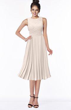 ColsBM Aileen Cream Pink Gorgeous A-line Sleeveless Chiffon Pick up Bridesmaid Dresses