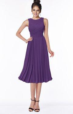 ColsBM Aileen Dark Purple Gorgeous A-line Sleeveless Chiffon Pick up Bridesmaid Dresses