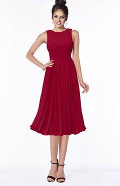 ColsBM Aileen Dark Red Gorgeous A-line Sleeveless Chiffon Pick up Bridesmaid Dresses